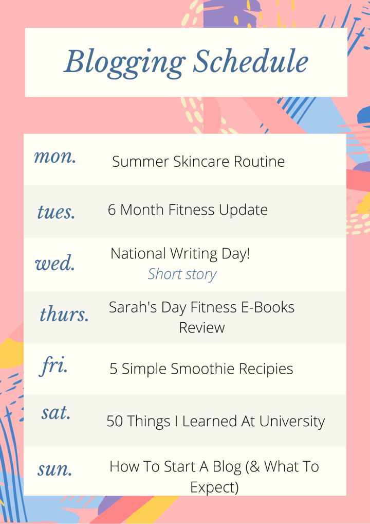 This Week's Blogging Challenge! | June 22 – 28th